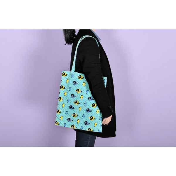 Shopping [Planet & Lightning] Tote Bag By Kiitos Life