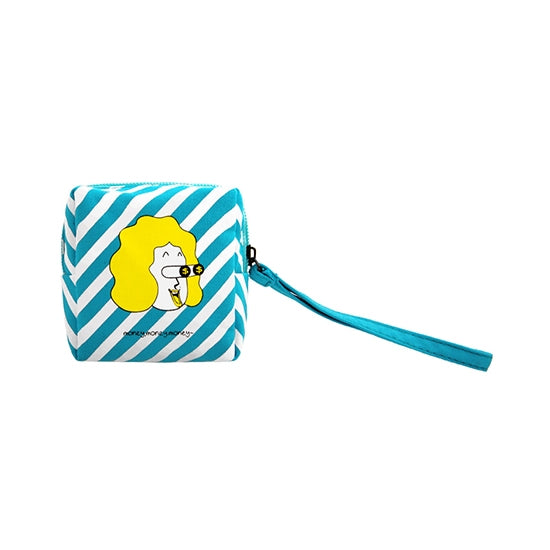 Small Material Girl Box Pouch by Kiitos Life