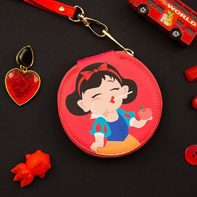 Princess Snow White Red Round Coin Pouch By Bentoy