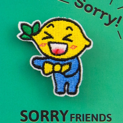 Sorry Friends Lemon Embroidery Brooch By Bentoy