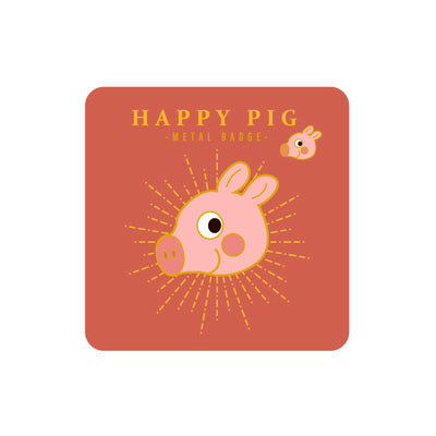Sparkling Happy Pig Pin By MGCITY