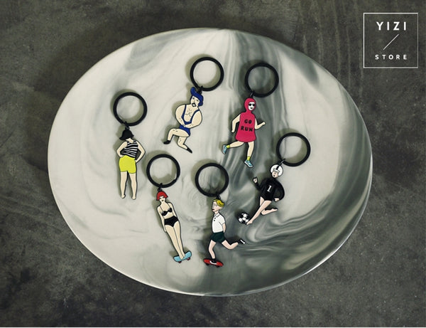 Sports [Mr Strong] Key Chain By YIZI STORE