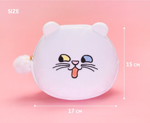 Squint Eyes [White Cat] Pouch By Bentoy