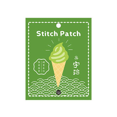 Step Out Matcha Soft Serve Embroidered Sticker Patch