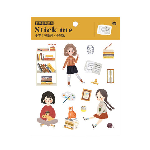 Cute Girl 1 Stick Me Stickers