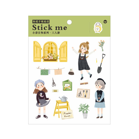 Cute Girl 2 Stick Me Stickers