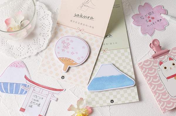 Stroll In Kyoto [Paper Fan] Sticky Notes