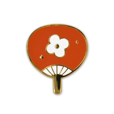 Summer Fan [Flower] Enamel Pin By U-Pick
