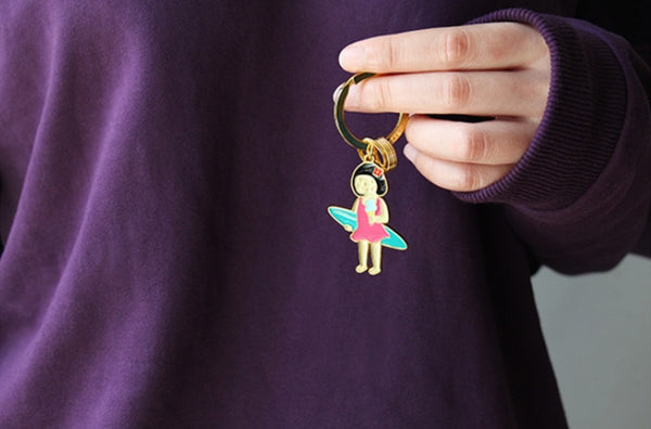 Summer Holiday Surfing Key Chain By U-Pick