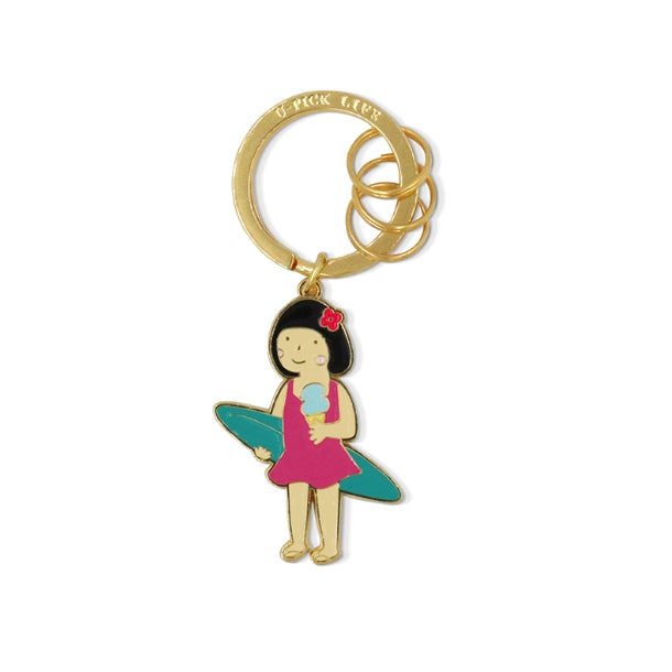 Summer Holiday [Surfing] Key Chain By U-Pick