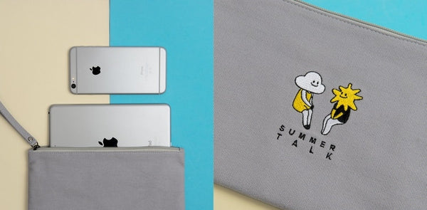 Cloud & Sun Summer Talk Flat Case By Kiitos Life