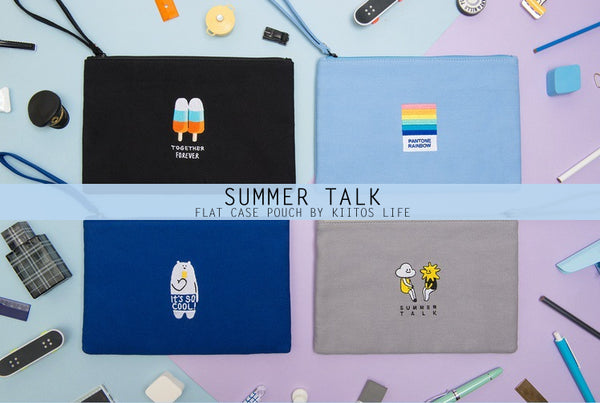 Summer Talk [Polar Bear] Flat Case By Kiitos Life