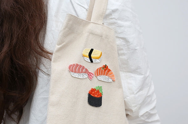 Sushi Embroidered Sticker Iron-On Patch
