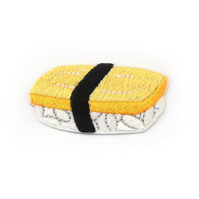 Sushi [Tamago Nigiri] Embroidered Sticker Iron-On Patch