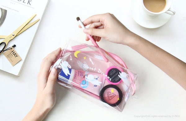 Sweet Dreams Transparent Box Pouch By U-Pick