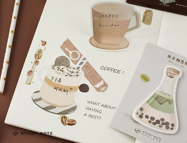 Sweet Drink [Matcha Bubble Latte] Sticky Notes