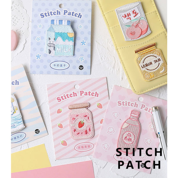 Sweet Sweet [Strawberry Pudding] Embroidered Sticker Patch