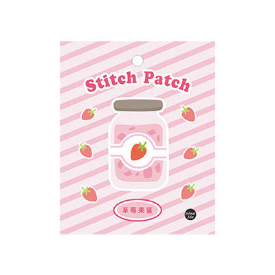 Sweet Sweet Stawberry Pudding Embroidered Sticker Patch
