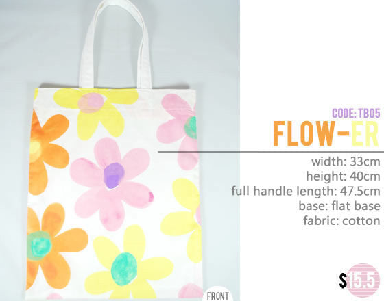[Flow-er] Big Tote Bag