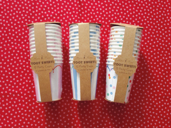 Toot Sweet Blue Party Cups