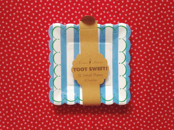 Toot Sweet Blue Stripe Small Plates