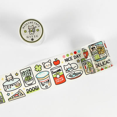 Tea Party [Cat Food Feast] Washi Tape