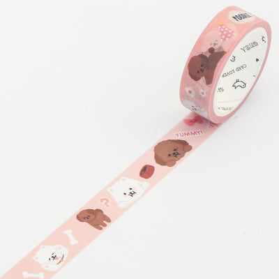 Teddy & Bichon Frise Dogs Washi Tape