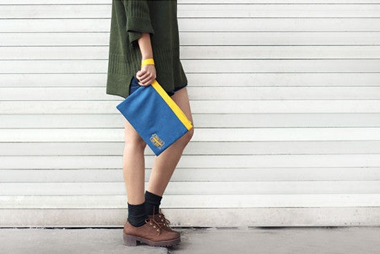 Think Less Live More [Yellow] Pouch By U-Pick