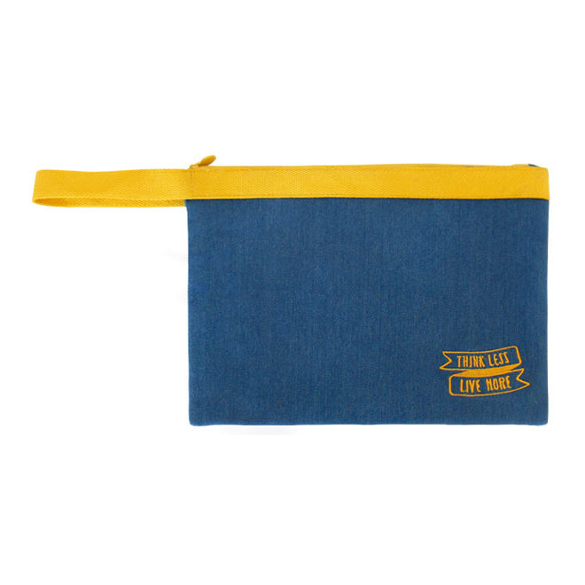 Think Less Live More Yellow Pouch By U-Pick