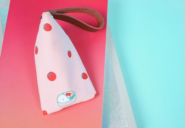 Key Coin Tomato Pink Pouch By 小野 Xaoye