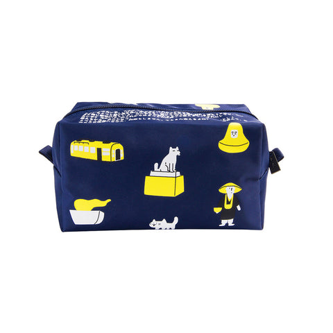 Tokyo Box Impression Blue Pouch By Kiitos Life