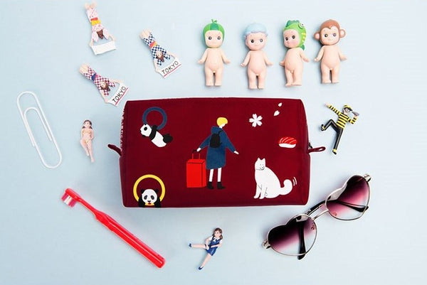 Impression Red Tokyo Box Pouch By Kiitos Life