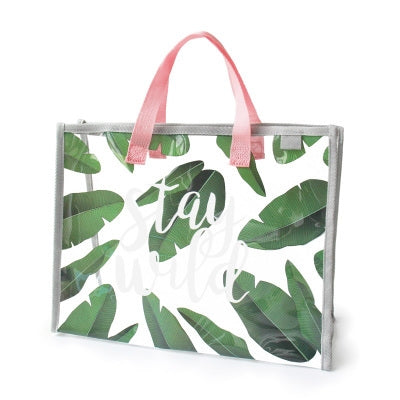 Stay Wild Transparent Beach Bag By U-Pick
