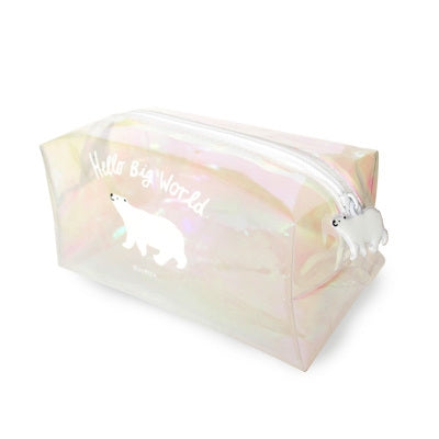 Transparent Box Polar Bear World Pouch By U-Pick