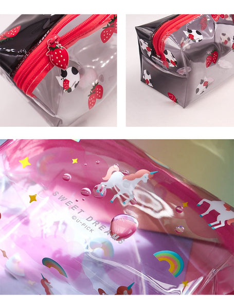 Summer Friends Transparent Box Pouch By U-Pick
