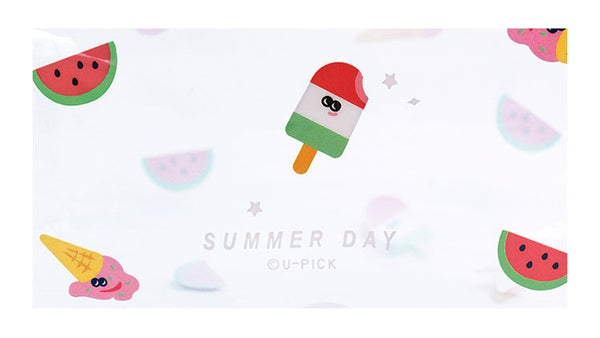 Summer Friends Summer Day Transparent Box Pouch By U-Pick