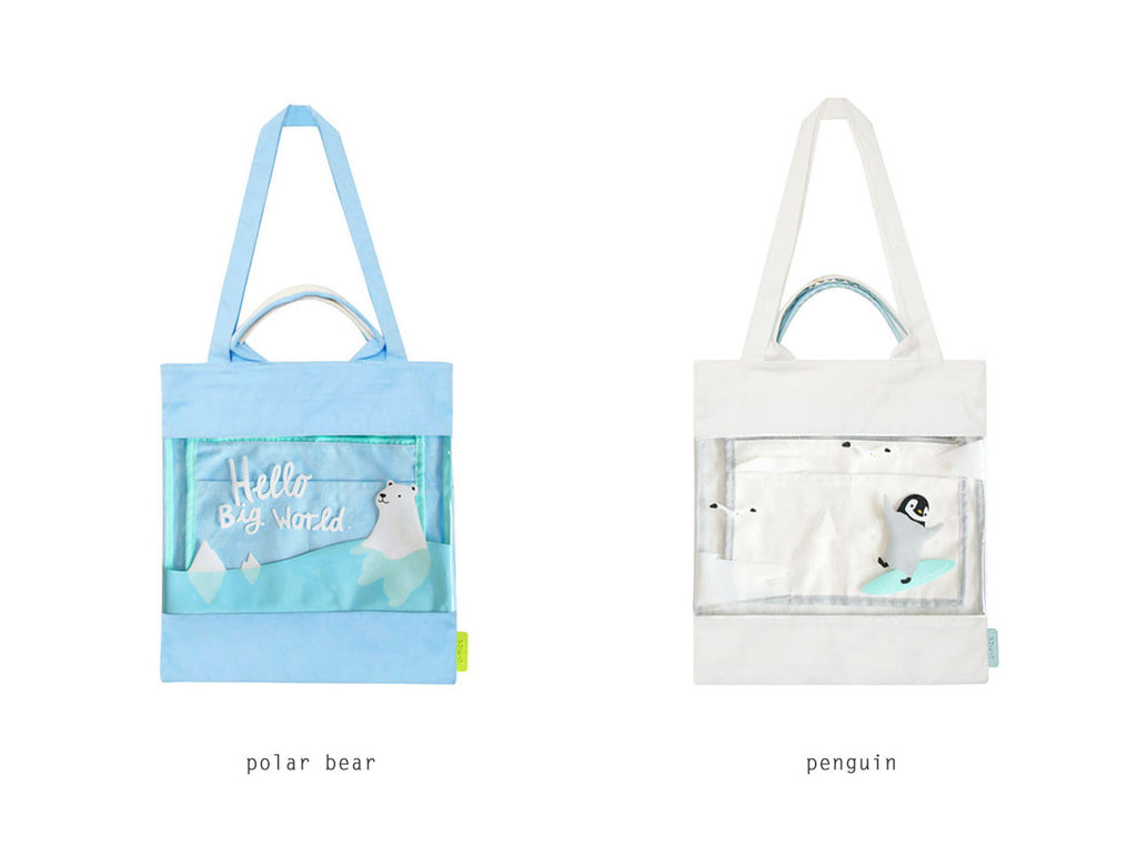 Semi Transparent Tote Bag By U-Pick