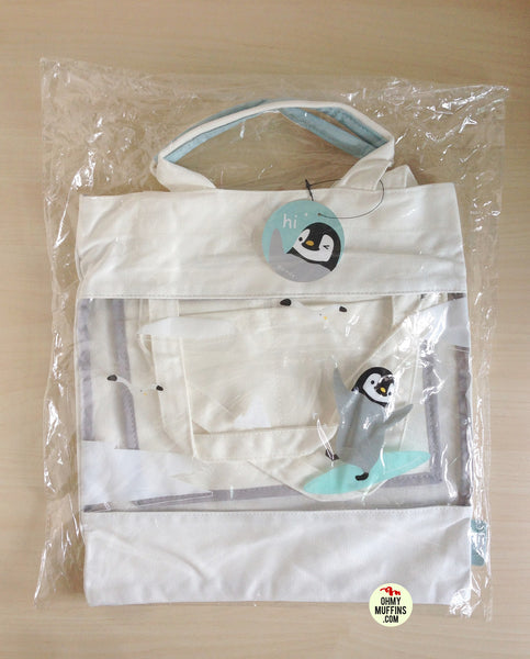 Penguin Transparent Tote Bag By U-Pick