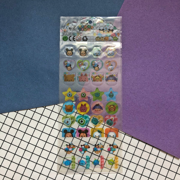 Disney Tsum Tsum Mickey Mouse Transparent Stickers
