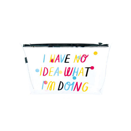 Transparent No Idea Travel Pouch By U-Pick