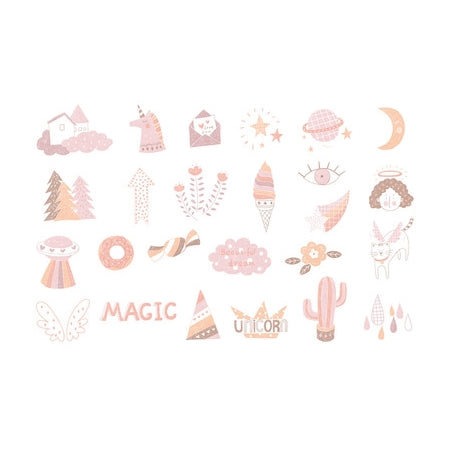 Elegant Unicorn Dream Sticker Pack