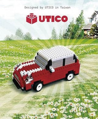UTICO Bricar Series - Red White Car 1557