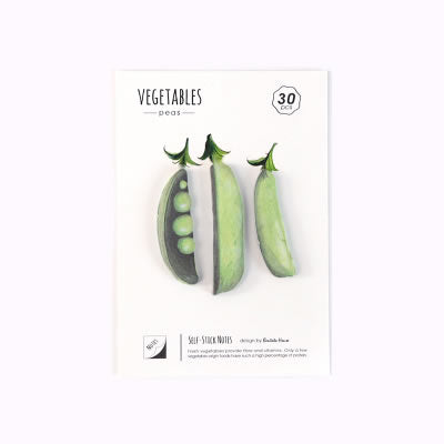 Vegetables Peas Sticky Notes