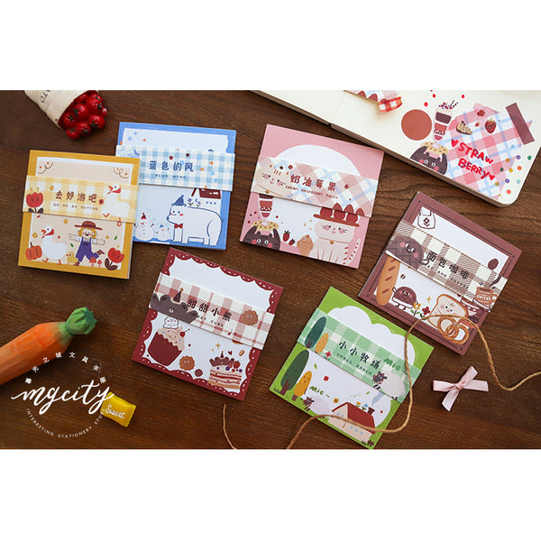 Warmth Light [Cream Raspberry Fruit] Notepad
