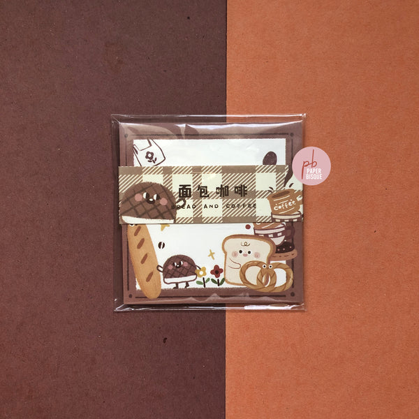 Warmth Light Bread & Coffee Notepad Memo Pad