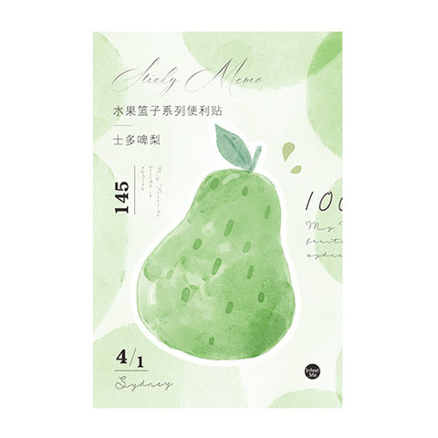 Watercolour Pear Fruit Sticky Notes