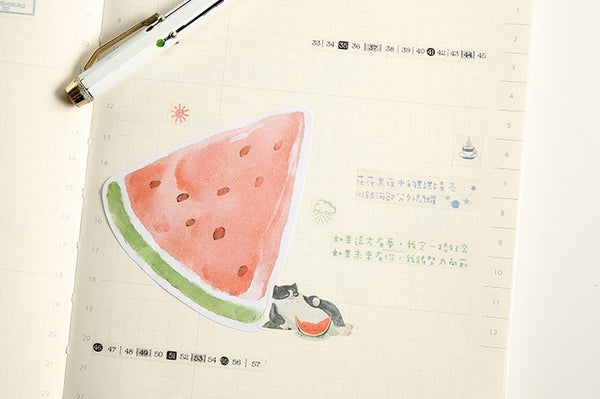 Watercolour Watermelon Fruit Sticky Notes