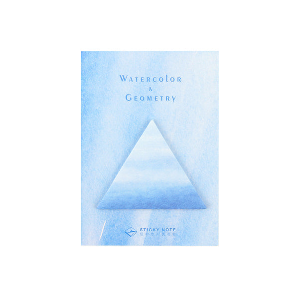 Watercolour Geometry Triangle Sticky Notes