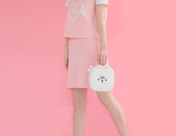 Animal [White] Square Pouch By Bentoy