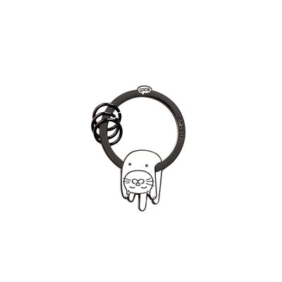 Hanging On Animal White Cat Key Chain By U-Pick